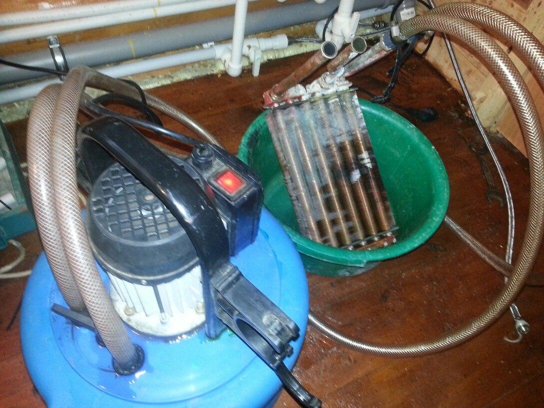 Ремонт и промывка газового настенного котла Buderus