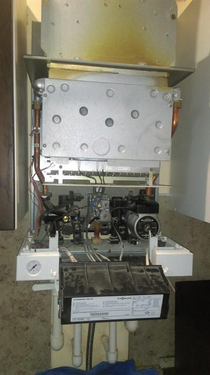 Промывка теплообменника газового котла Viessman Vitopend 100