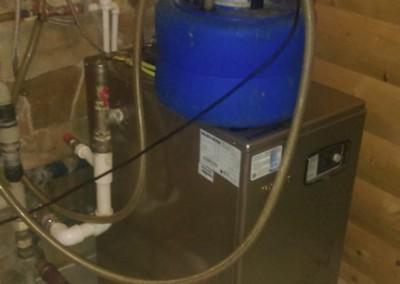 Промывка газового напольного котла Navien от накипи