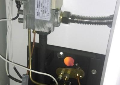 Монтаж напольного газового котла Лемакс