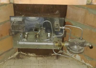 Монтаж газовой горелки для печи  — 36 квт.