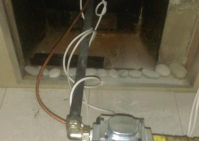 Монтаж горелки с автоматическим регулированием температуры