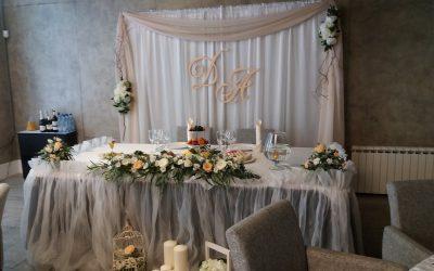 Оформление свадьбы в ресторане Бригга