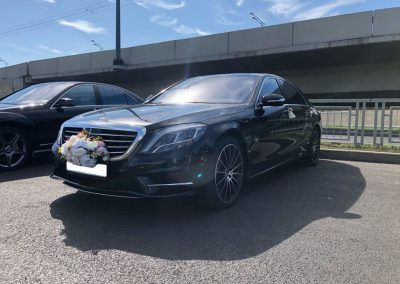 Сопровождение автомобилями Mercedes-Benz S-Class W222 свадьбы в Казани